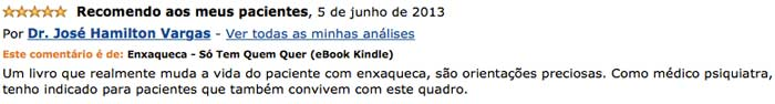Depoimento de Dr. José Hamilton Vargas no site da Amazon